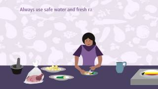 Always use safe water and fresh raw materials to cook food