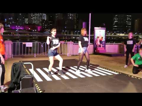 K-Pop in Public! 1 hour Random Play Dance Game Part 1 - Brisbane Festival Runway Busk