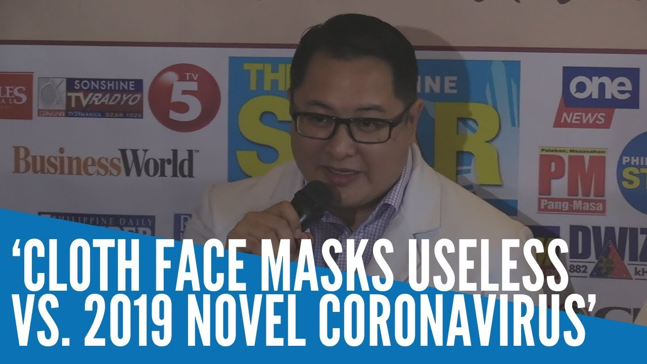 'Cloth face masks useless vs. 2019 novel coronavirus'