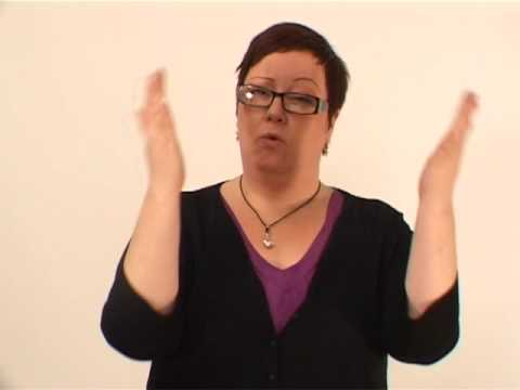 About the international scene of Riksteatern, in international sign language