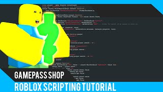 Roblox: Gamepass Shop Tutorial - Roblox Scripting Tutorial