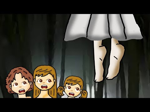 True kids' Nightmare in the forest horror story animated