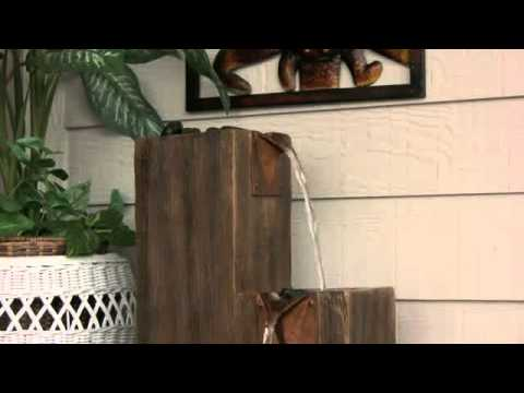 Savio Lighting: Kenroy Home Timber Indoor/Outdoor Floor Fountain ...