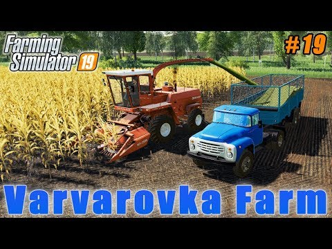 Harvesting silage with new combine | Farming in Varvarovka | FS 19