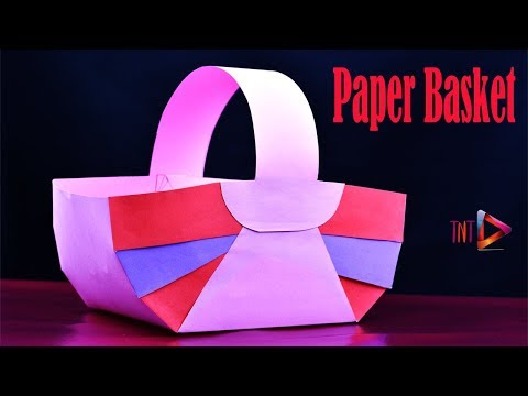How To Make Awesome Basket With Paper | DIY Paper Easter Baskets | Easy Paper Craft Ideas
