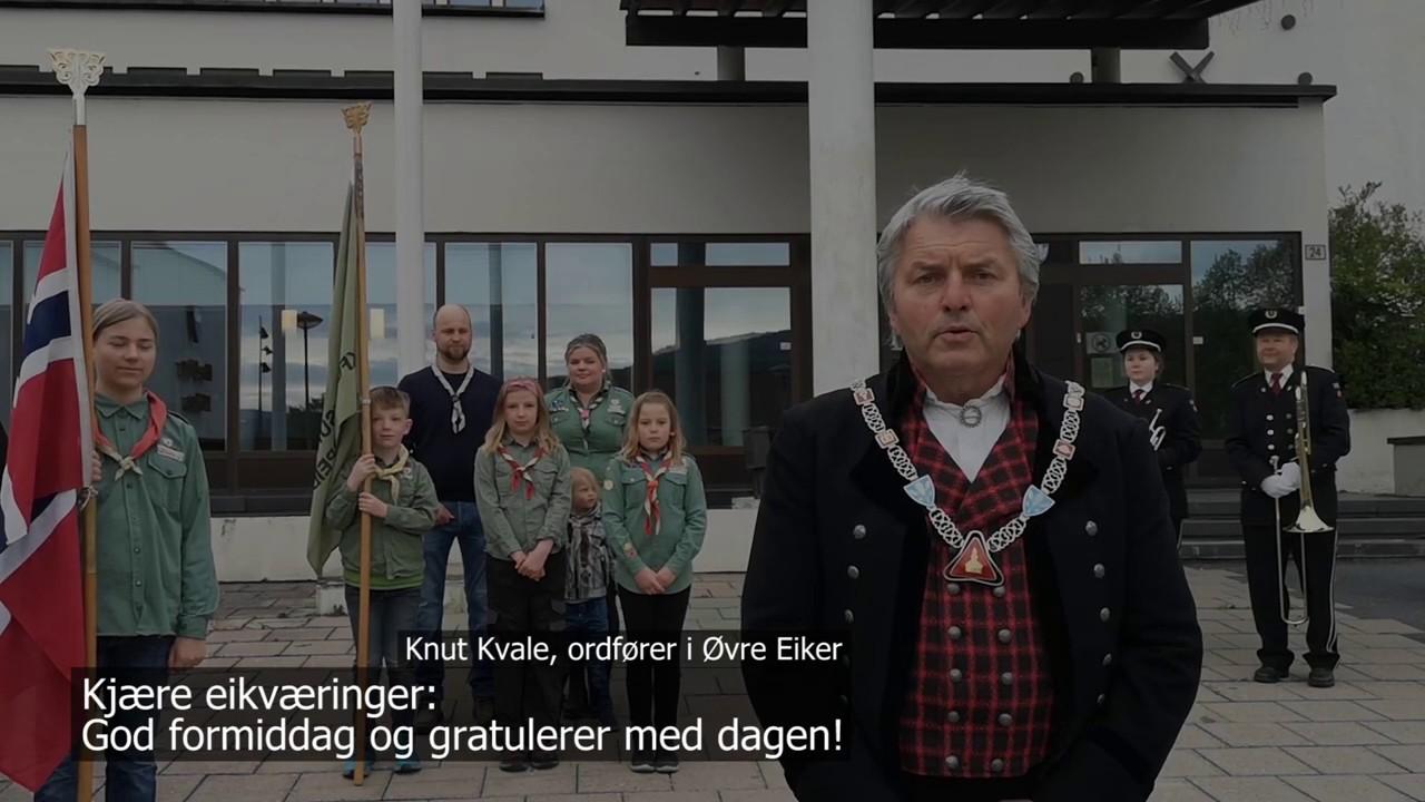 17. mai-hilsen fra Øvre Eiker kommune - full teksting