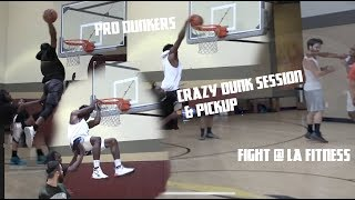 Pro Dunkers expose trash talkers at gym, basketball FIGHT breaks out!