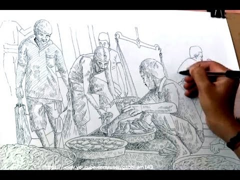 Drawing fish market with ballpoint pen pen drawing youtube