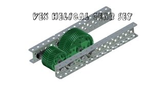 vex cad challenge submission helical gear set