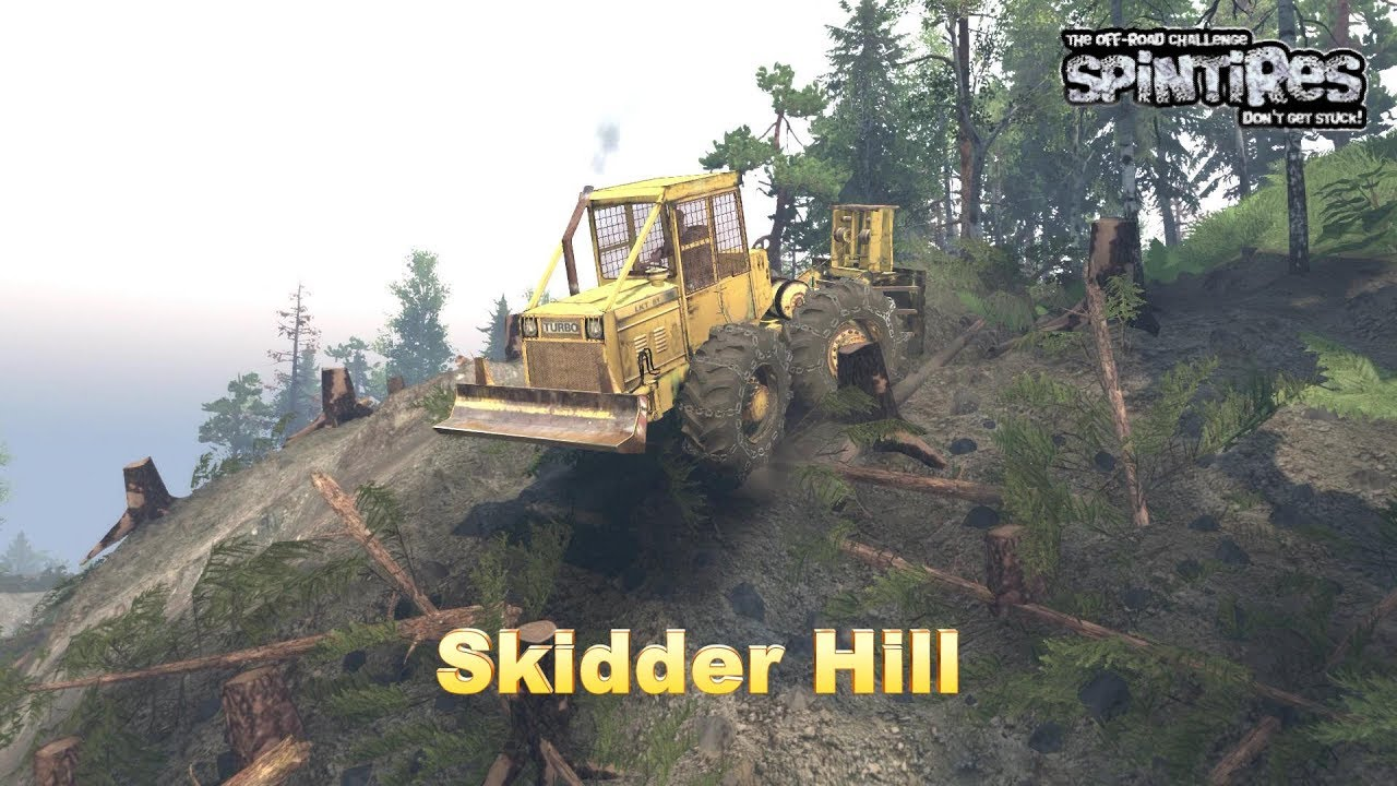 Skidder Focus Map / Skidder Hill / SpinTires Logging Game Play