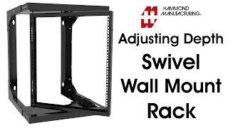 Heavy Duty Adjustable Depth Swivel Wall Mount Rack