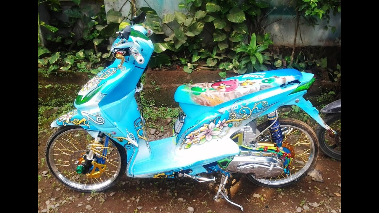 Top Modifikasi Air Brush Motor Honda Beat Terbaru Dan Terlengkap