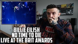 Billie Eilish - No Time To Die (Live at Brit Awards) - Reaction