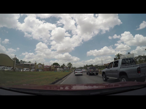 drive to port of spain  in 4k
