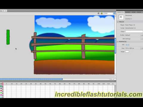 Adobe Flash Tutorial- How to Design a Cartoon Environment