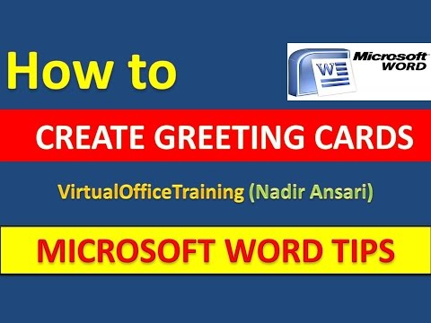 Word tips and tricks how to create greeting cards in for How to make a card in microsoft word