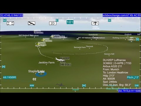 3D Flight Tracking App For Android - From Holding To Approach