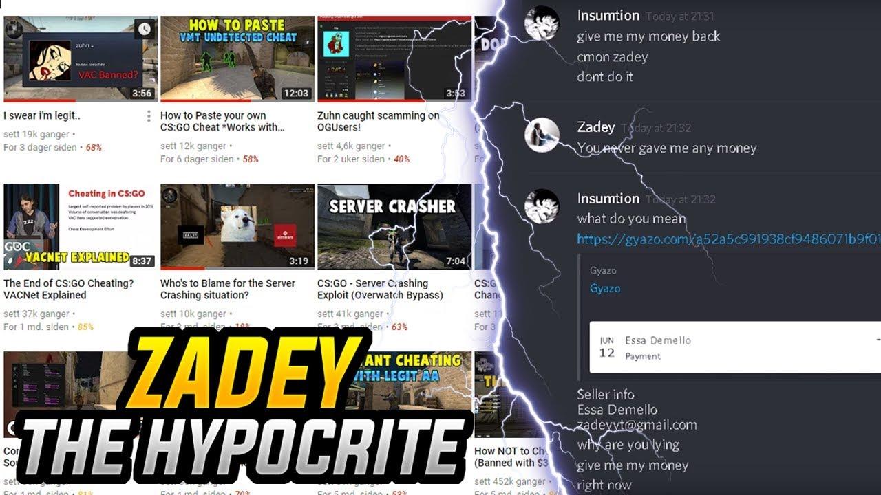 Zadey The Hypocrite