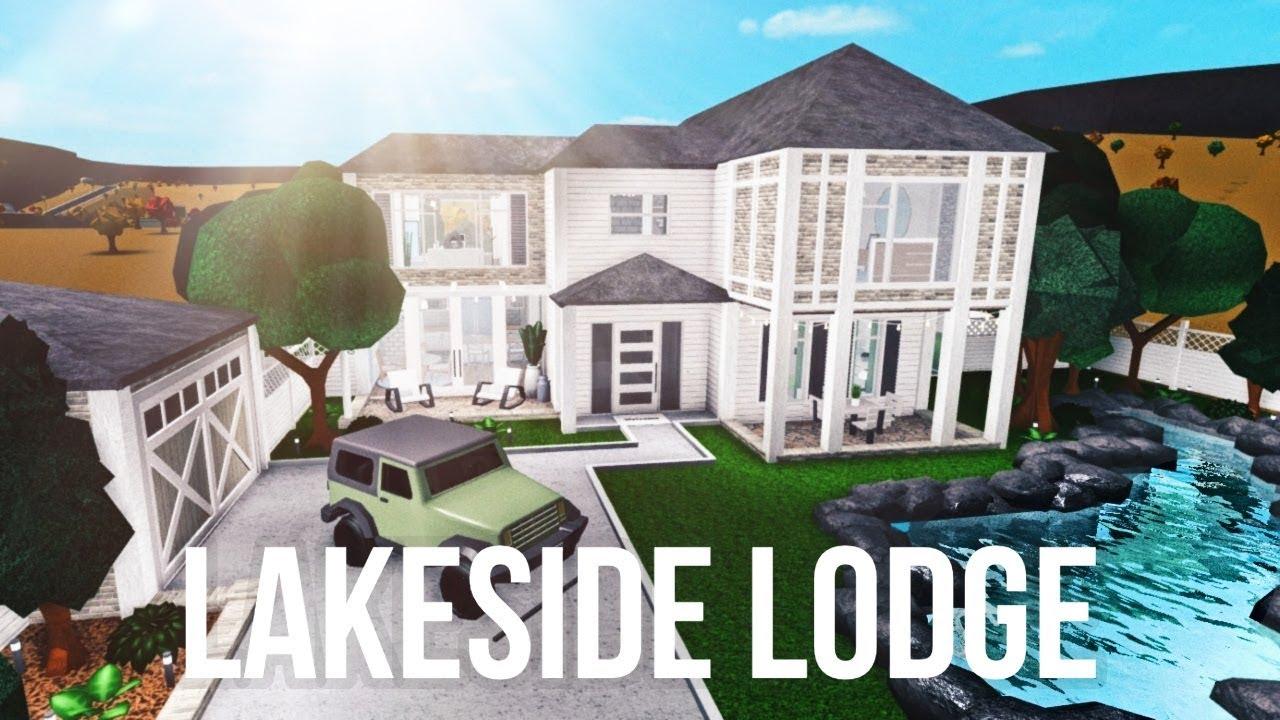 Bloxburg Lakeside Lodge 148k Youtube