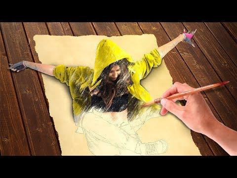 Create beautiful sketch portrait #AKG Adobe Photoshop Tutorial thumbnail