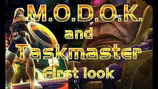 MODOK and Taskmaster First Look Marvel contest of champions special movies