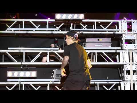Justin Bieber At Ultra  2015 With Skrillex, Diplo - Jack U