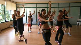 Shakira Drum attack at class no.770 of Zumba Fitness with Dina B. program in The Philippines