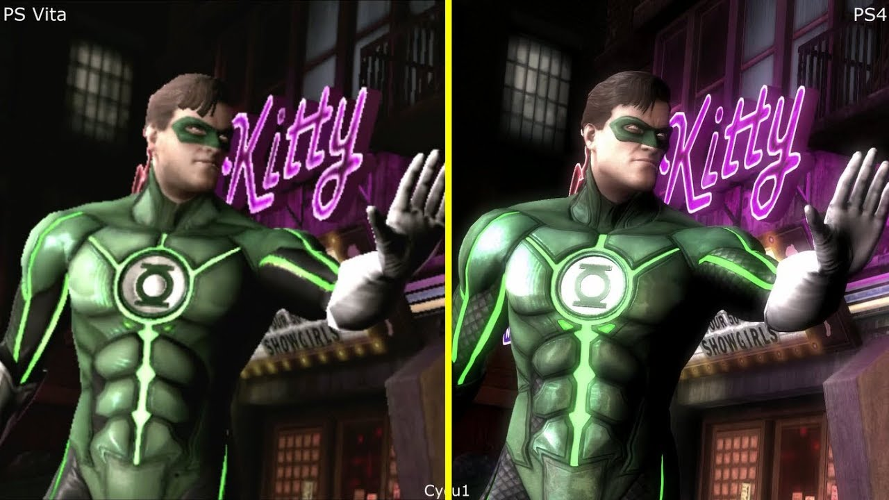 Injustice Gods Among Us PS Vita vs PS4 Graphics Comparison ...