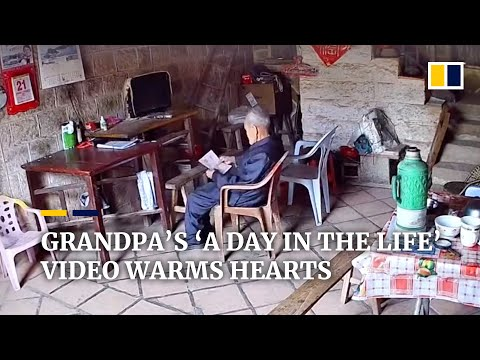 Chinese grandpa's 'a day in the life' video warms many hearts online