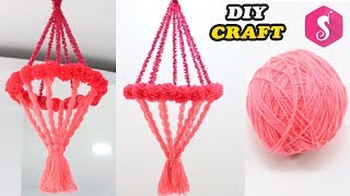 Easy WOOLEN Ceiling Hanging Design | Easy Diy Craft | Jhumar Craft from Wool