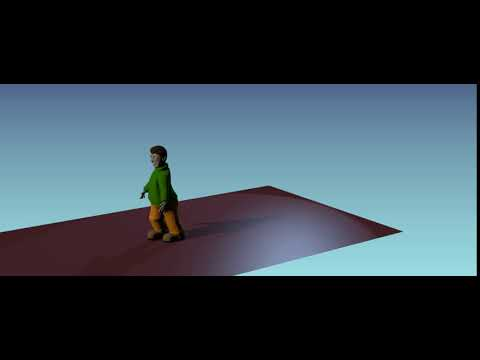 Child walking test animate Viewing pose cam side
