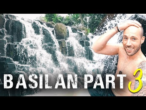 A STEPPING STONE WATERFALL?! 💦BASILAN Mindanao Philippines travel vlog 2018