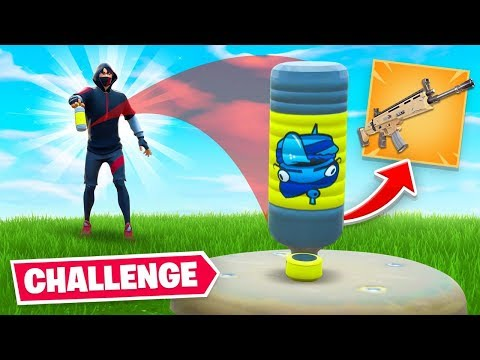 BOTTLE FLIP = LOOT Challenge In Fortnite!