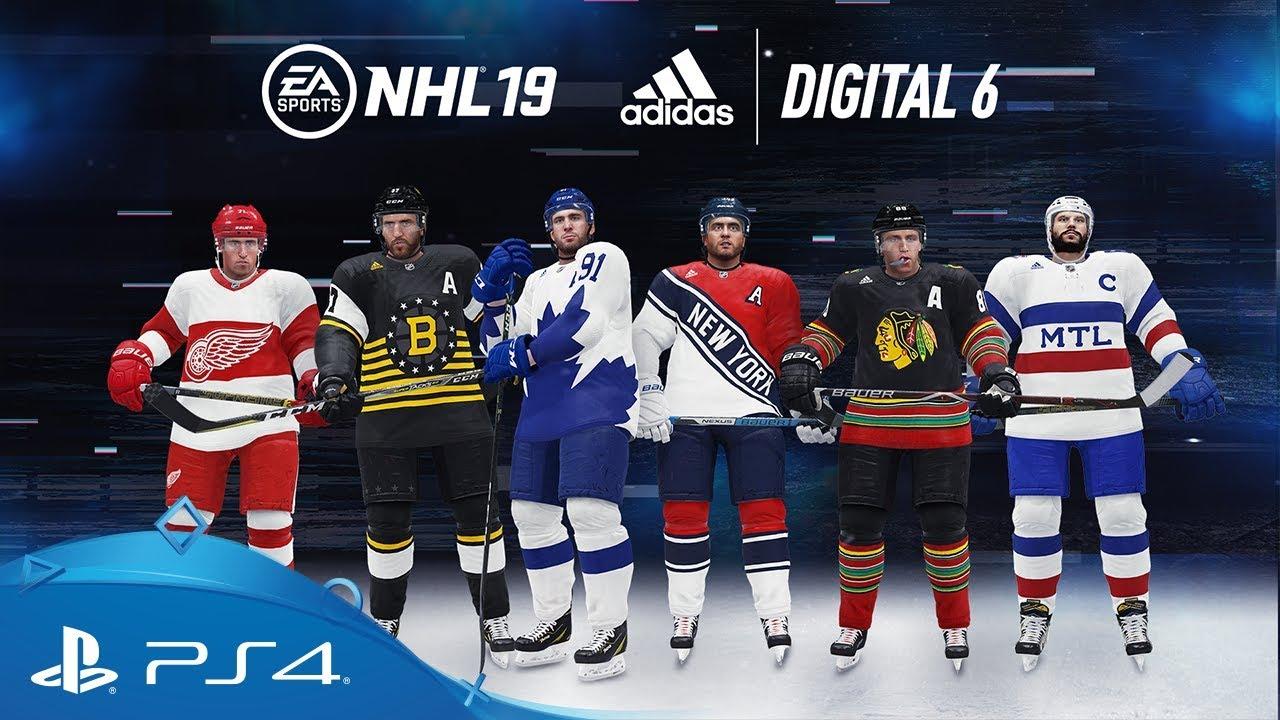 8fbfbb3e NHL 19 | EA SPORTS x adidas Digital 6 Jerseys | PS4 - YouTube
