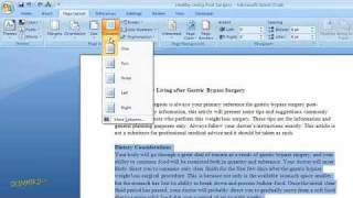 How to Create Columns of Text in Word 2007 For Dummies