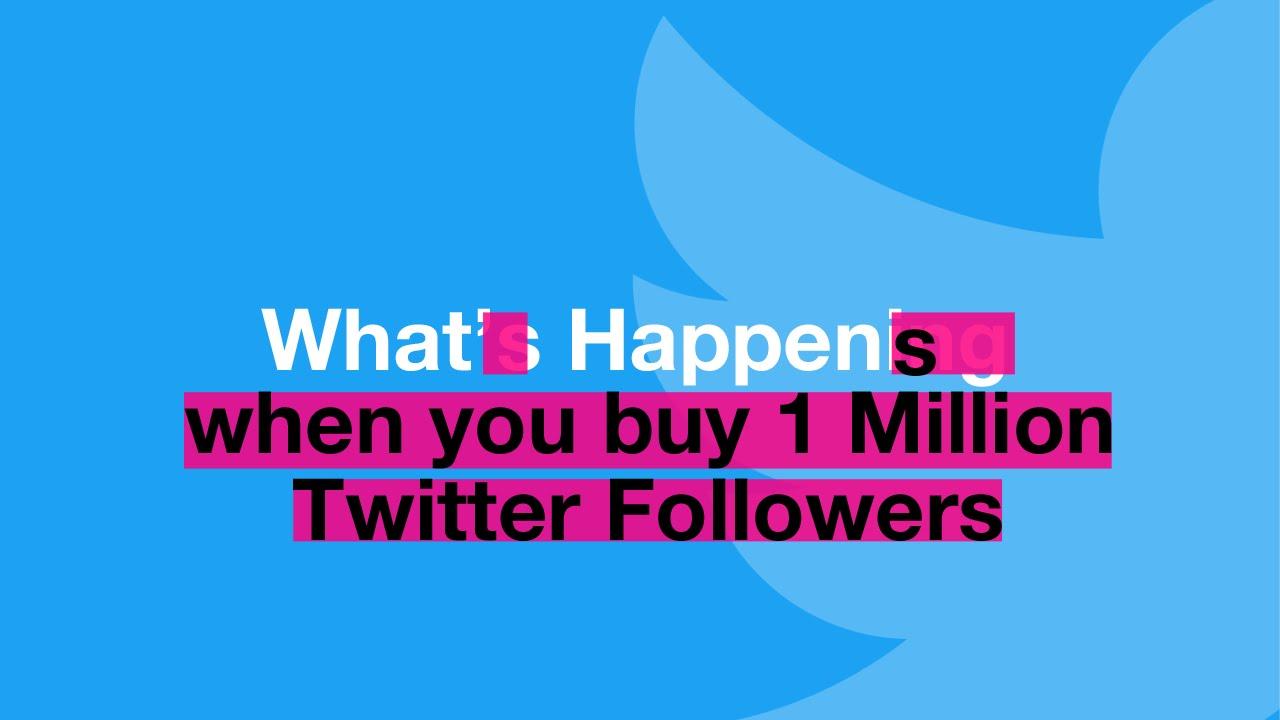 09d887d255d9 What Happens When You Buy 1 Million Twitter Followers - YouTube