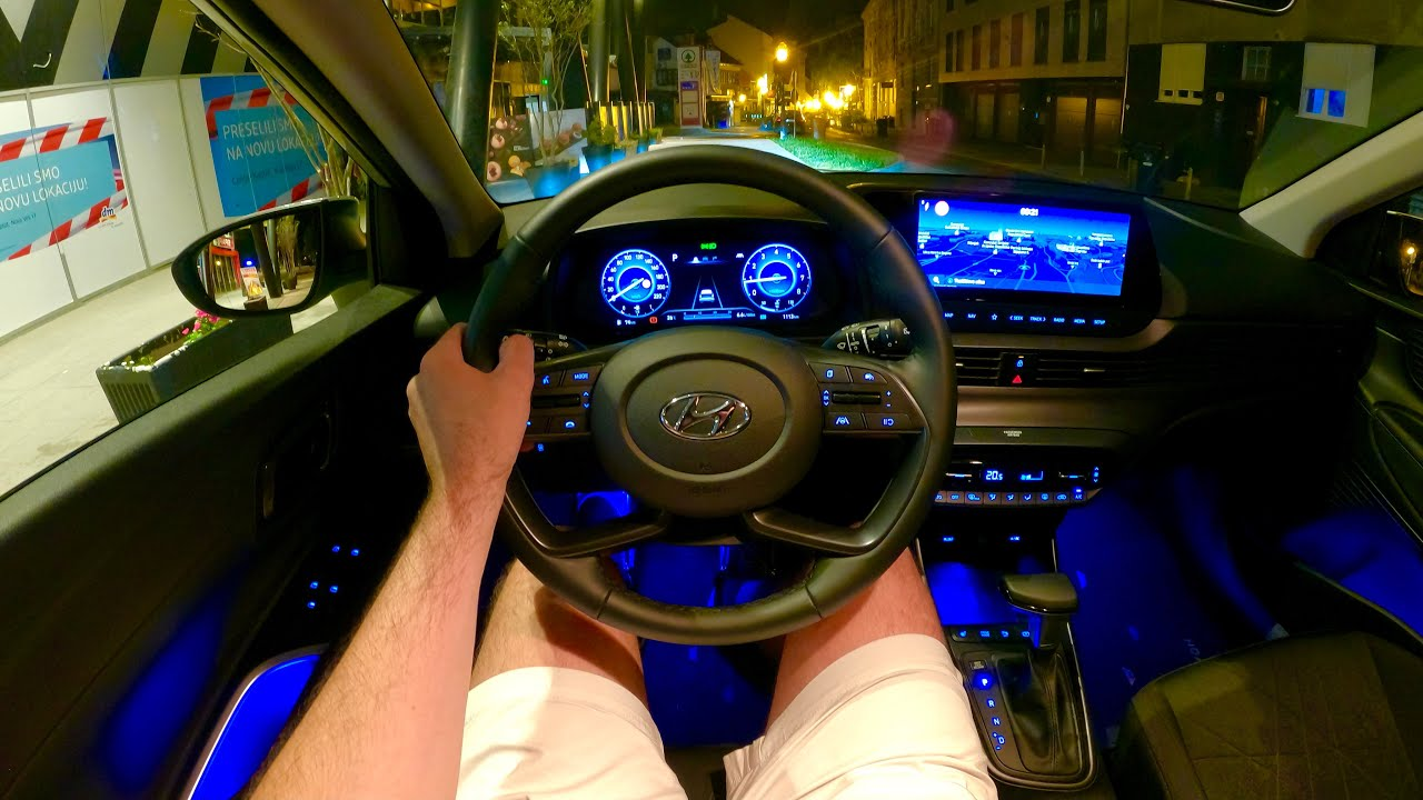 Download New Hyundai BAYON 2022 - NIGHT POV test drive & full REVIEW (1.0 T-GDI DCT)