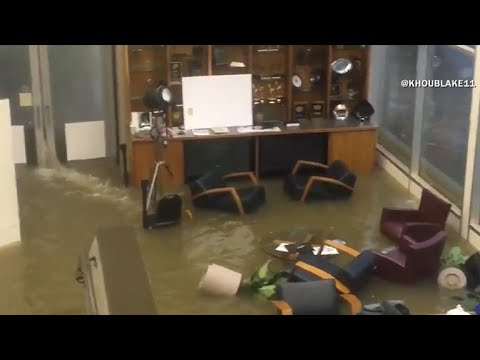 Houston TV station KHOU evacuated due to Harvey flooding