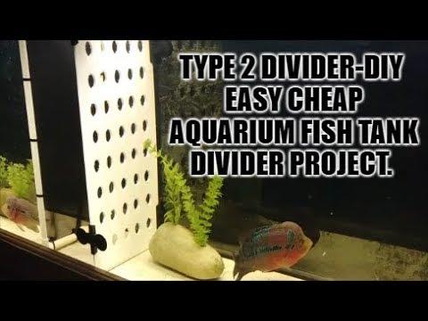 Type 2 - Make A Cheap & Easy Diy Aquarium Fish Tank Divider.