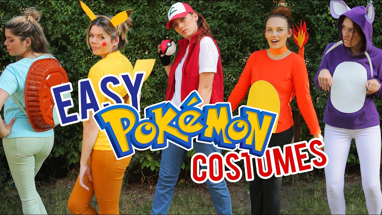 LAST MINUTE POKEMON HALLOWEEN COSTUMES - YouTube