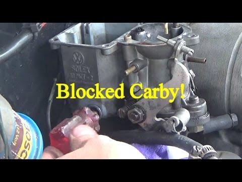 VW Solex carburetor blocked!