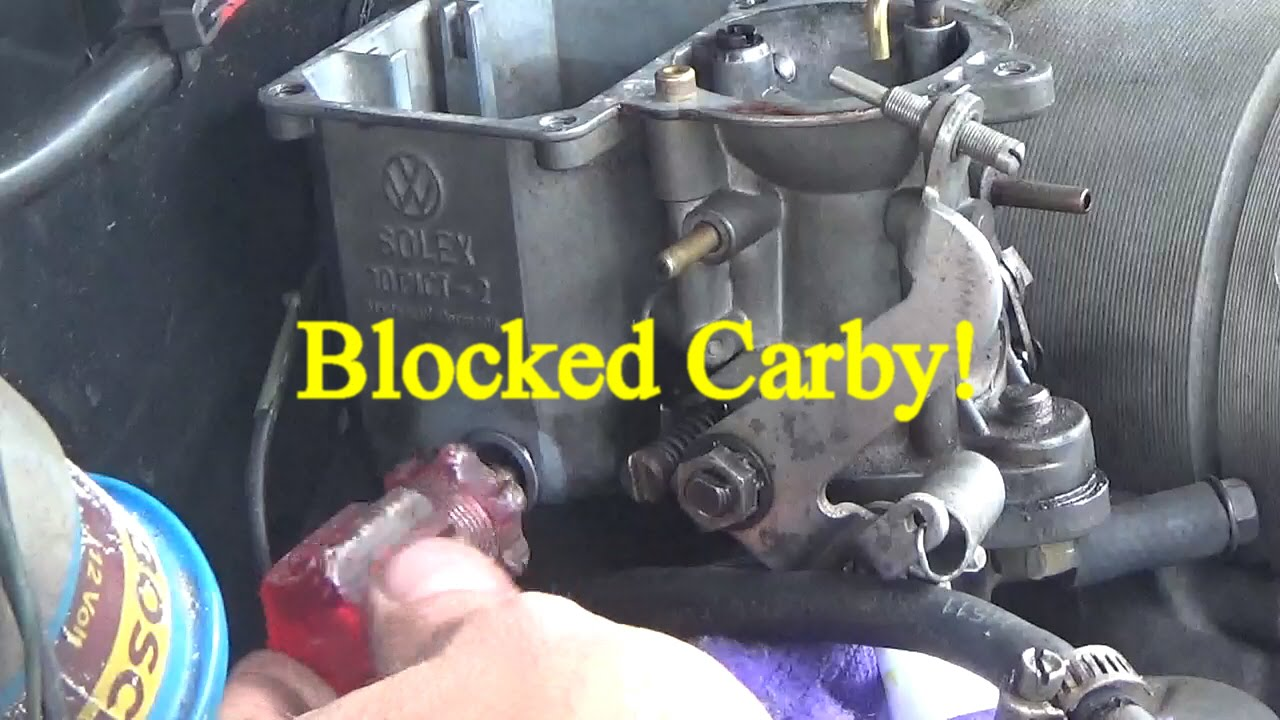 medium resolution of vw solex carburetor blocked