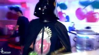 Darth Vader in Night club.