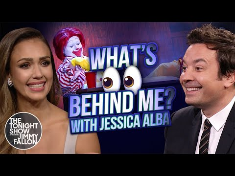 See a Game of  'What's Behind Me' with Jessica Alba!