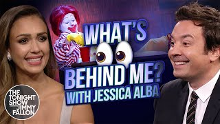 Download What's Behind Me? with Jessica Alba | The Tonight Show Starring Jimmy Fallon