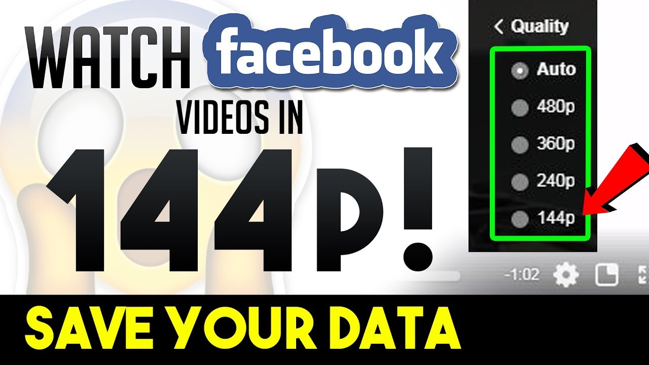 How to Watch Facebook Videos in 144p, 240p, 480p or Any Resolutions Like  YouTube   Aroundthealok