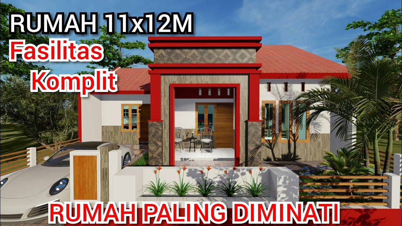 Desain Rumah Tropis 11x12M Dengan Fasilitas Lengkap - YouTube