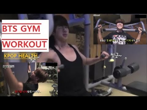 [ENG SUB] Kpop BTS gym workout !!