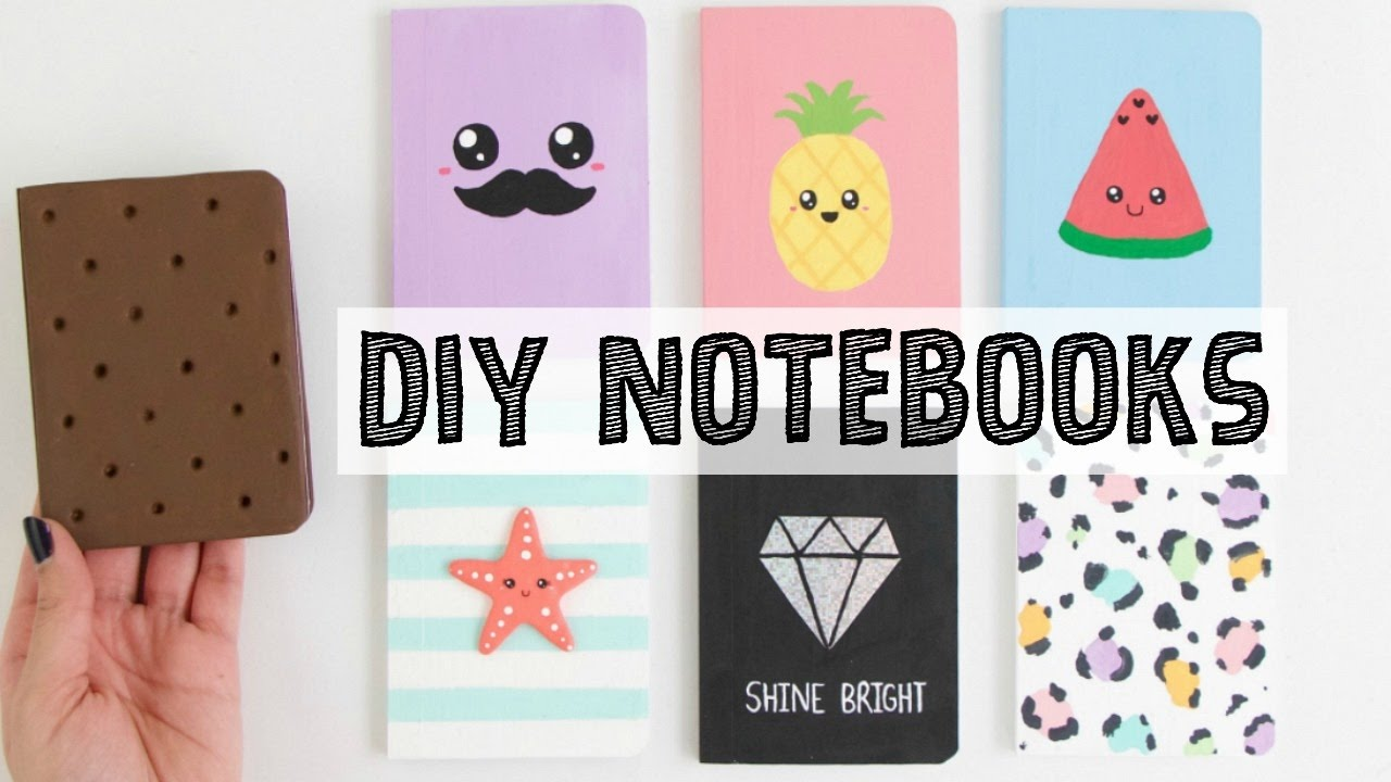 7 DIY NOTEBOOKS IDEAS - School Supplies You NEED To Try ...