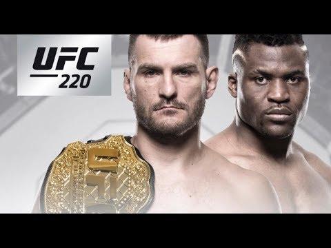 UFC 220 Stipe Miocic vs Francis Ngannou Live Full Show!